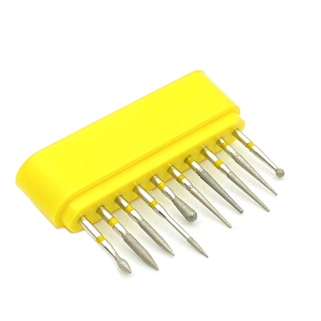 18 Type Choice 10pcs/set Dental Diamond Burs Drill for High Speed Handpiece Dental High Speed Burs Dentist Polish Tool 4
