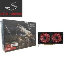 XFX RX 550 2GB GDDR5 tarjetas gráficas AMD RX 500 de la serie de la tarjeta de vídeo RX550-2GB RX552 2G HDMI DP DVI 7000MHz PCI