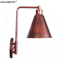 Simple RH Edison LED Wall Lamp Vintage Industrial Loft Decor Sconce Wall Lights Bedside Home Lighting Fixtures Iron Black/White(China)