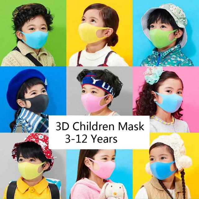 3Pcs Kids PM2.5 Sponge Anti Pollution Face Mask Washable Reusable Sponge Dustproof Mouth Mask Anti Flu Mask for Children 1