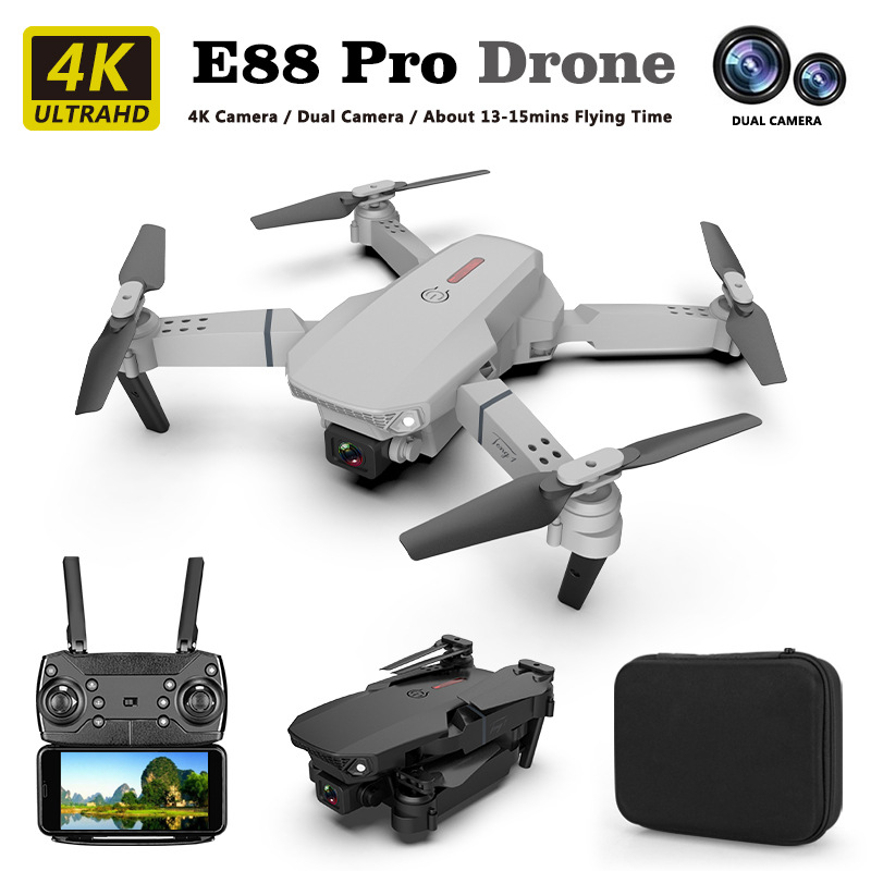E88 pro drone 4k HD dual camera visual positioning 1080P WiFi fpv drone height preservation rc quadcopter