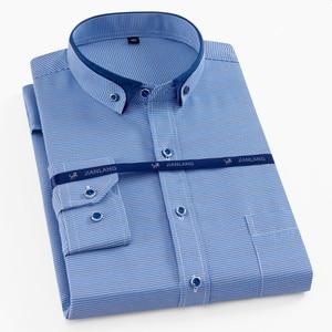Image 2 - בתוספת גודל 8XL גברים חולצה ארוך שרוול מוצק פסים חולצות גברים שמלת גדול 7XL 6XL לבן חברתי חולצות גברים בגדים streetwear