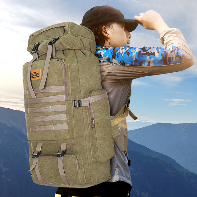100L Large Capacity Outdoor Tactical Backpack Mountaineering  Camping Hiking Military Molle Water-repellent Tactical Bag 3
