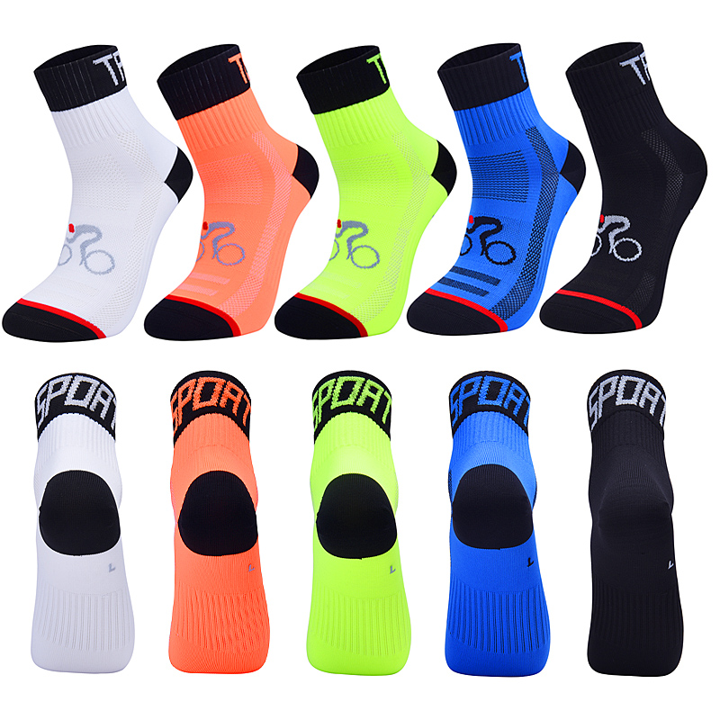 2020 New Men Women Cycling Sock Breathable Outdoor Basketball Socks Protect Feet Wicking Bike Running Football Sport Socks