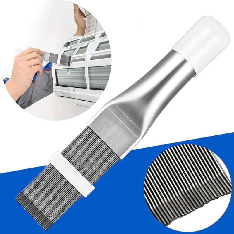 Herramienta de refrigeraci/ón Show Tama/ño Libre Cepillo de Limpieza Manual de Acero Inoxidable para alisador de Aire Acondicionado