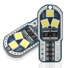 Novo 10 pçs t10 w5w 194 168 carro conduziu luzes de leitura apuramento lâmpada da cauda da porta automóvel 3030 6smd branco vermelho amarelo gelo azul dc12v