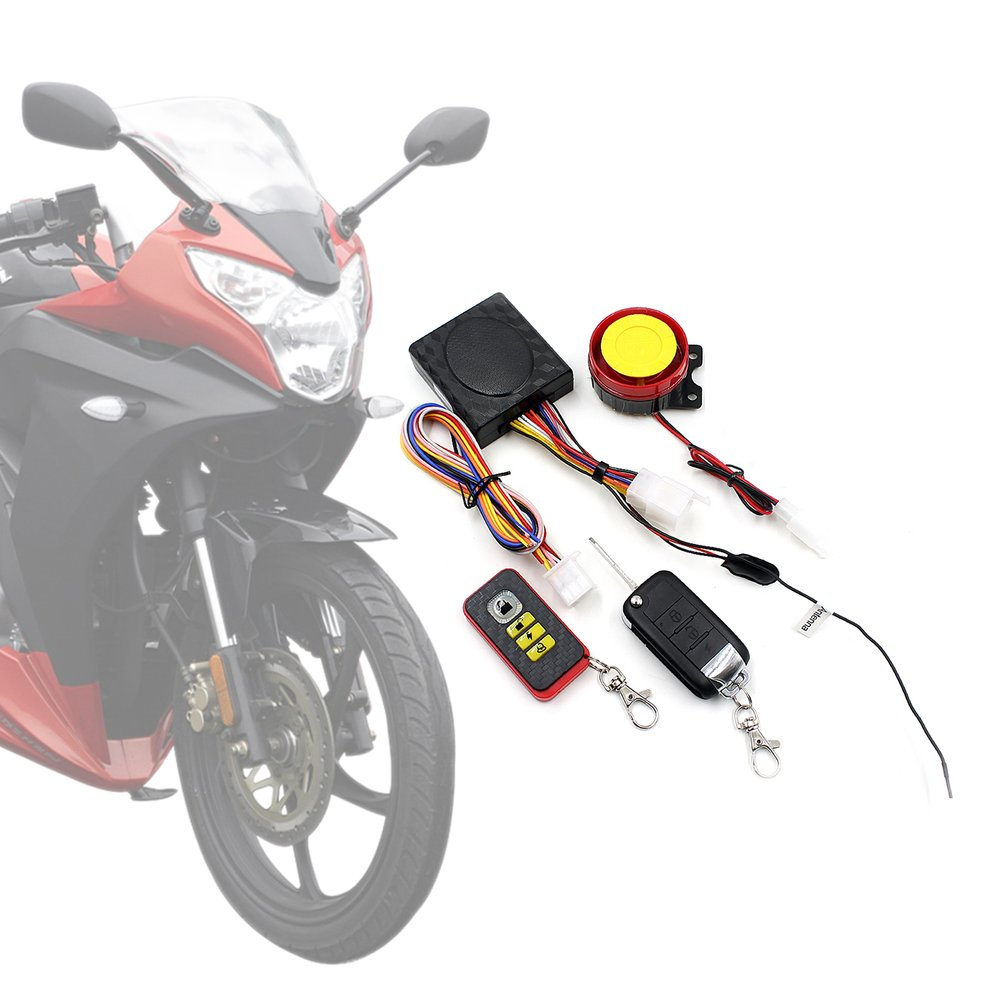 Motorcycle Alarm Anti-theft Device With Anti-minus Folding Key Remote Control With Car Alarm Double Flash 12v