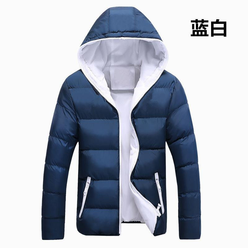 2019 New Hooded Winter Jacket Men Casual Warm Cotton Down Parka Coat Mens Jackets And Coats Outwear Brand Parkas Men Clothes