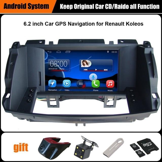 Lecteur vidéo de voiture pour Renault Koleos | Lautoradio amélioré dorigine, combinaison pour Renault Koleos 2009-2014 GPS Navigation, WiFi, Bluetooth 7.1, Android