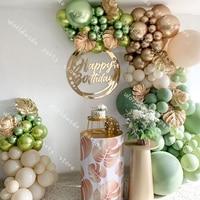 DIY Vintage Balloons Garland Arch Kit Retro green 129pcs Wedding Baby Shower DIY Birthday Par ty Anniversary Decor Decoration