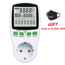 Digital LCD Energy Meter Wattmeter Wattage Electricity Kwh Power EU French US UK AU Measuring Outlet Analyzer