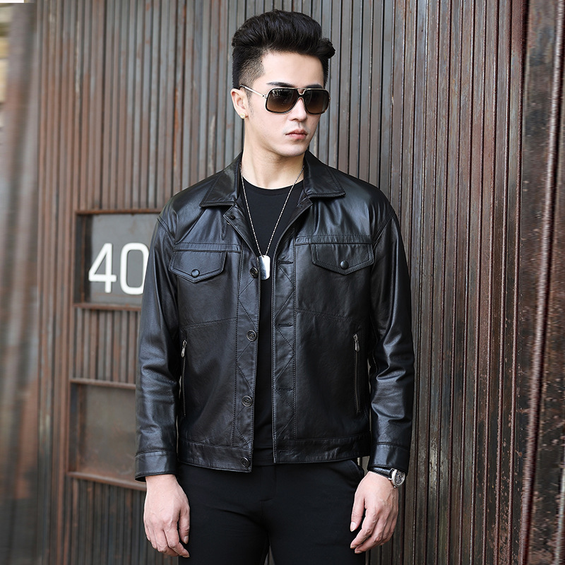 Leather Jacket Men 2020 Genuine Cow Leather Vintage Spring Autumn Coat Real Leather Jackets Jaqueta De Couro Nr55 YY515