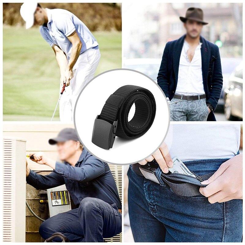 Creative And Practical Travel Security Belt With Hidden Money Pocket Anti-Theft Wallet Belt Outdoor Tactical Belt