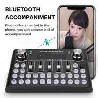 Mezclador de micrófono eléctrico con efectos de sonido dispositivo de emisión en vivo para teléfono móvil, PC, tarjeta de sonido de ordenador
