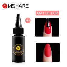 MSHARE mat couche de finition Gel sans lingette couche de finition vernis à ongles UV LED Gel vernis sans couche collante(China)