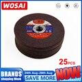 WOSAI 25 шт. 107 мм шлифовальный круг армированный волокном полимер режущий диск шлифовальный круг лезвие металлическая пила угловая шлифовальн...