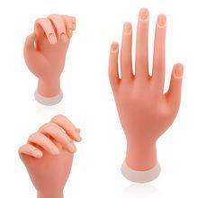 Стразы для ногтей рука модель гибкие подвижные силиконовые протезы