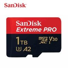 SanDisk Extreme Pro 1 테라바이트 메모리 카드 micro sd 클래스 10 메모리 U3 A2 V30 1 테라바이트 tf 플래시 카드