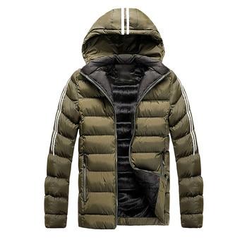2021 NEW Hooded Down New Warm Winter Jacket Men Winter Warm Hooded Softshell for Windproof Soft Coat Shell Jacket пуховик 2