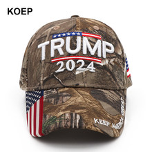 Donald trump 2024 boné camuflagem eua bandeira bonés de beisebol manter américa ótimo novamente snapback presidente chapéu bordado 3d por atacado