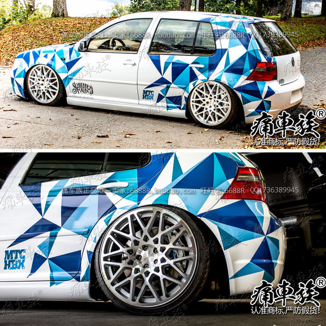 Car stickers FOR Volkswagen Golf 7 exterior decoration decals Golf 6 personalized custom body decoration stickers 2