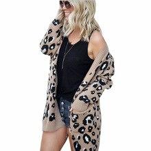 new women sweater leopard long knitted coats outwear sweater women cardigan clothes fashion knit sweater women apricot lace up detail knit long sweater cardigan