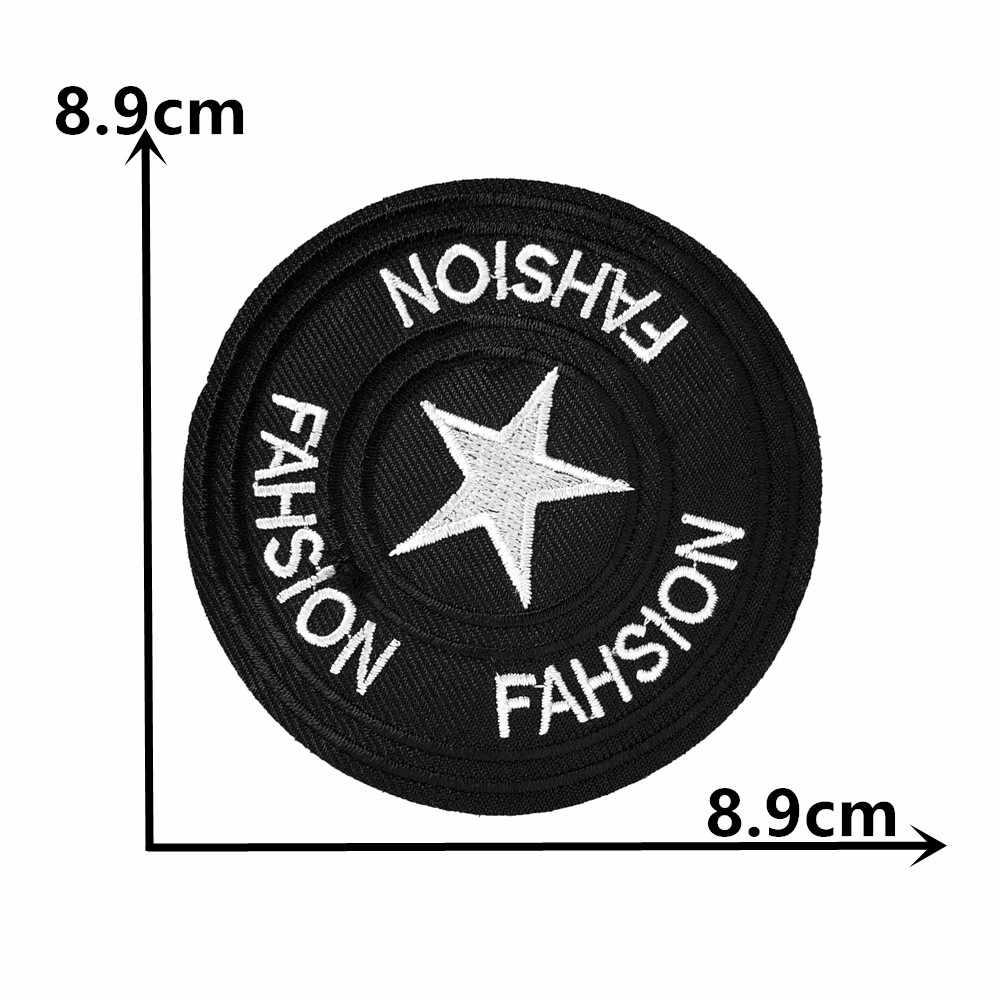 Nueva llegada parche de rayas insignia caliente pegatina bordado niñas camiseta hierro parche apliques para ropa DIY accesorios de costura