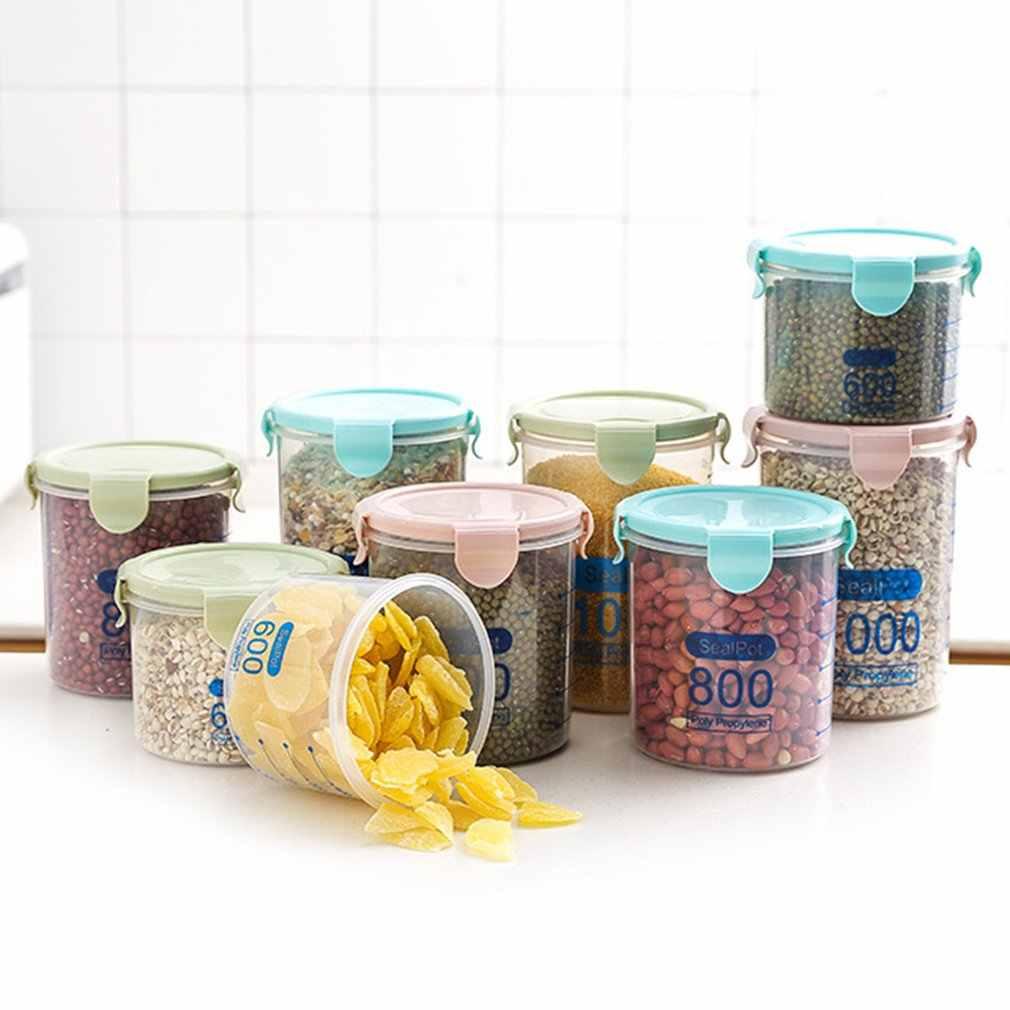 3 PCS 1000ML Praktische Haushalts Kunststoff Lagerung Gläser Lebensmittel Lagerung Flasche Sicher Ungiftig Dicht Versiegelt Küche Lagerung box