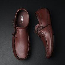 Модные кожаные лоферы ручной работы; Дышащая повседневная обувь;