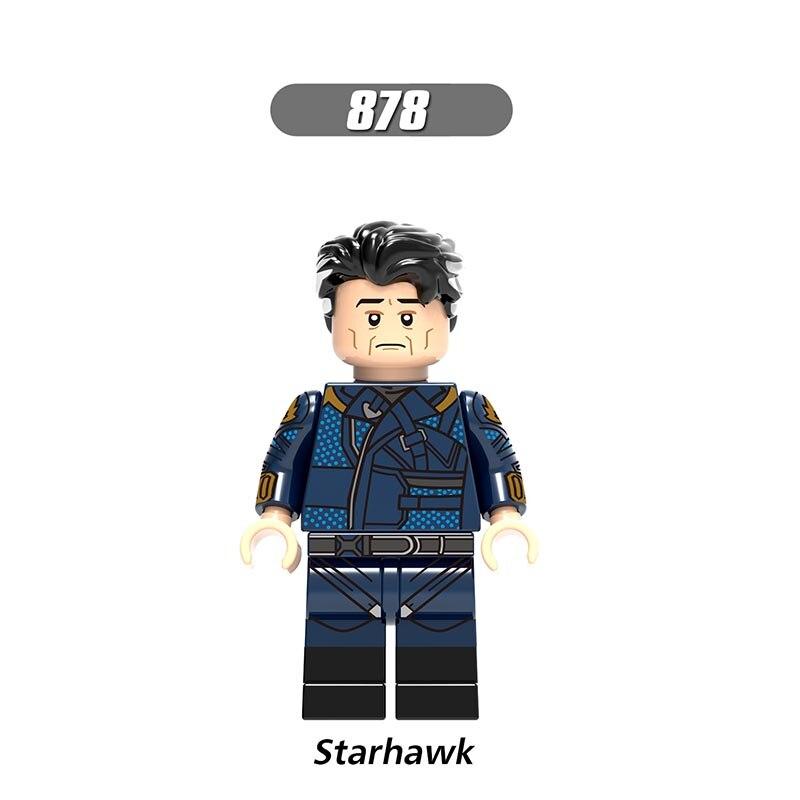 Single Sale LegoINGlys Enlighten Avengers 3 America Attack Starhawk Building Blocks Minifigure Toys Children Boys Gift X0193