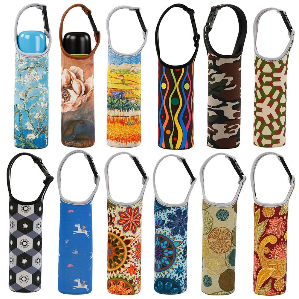 New Portable Heat Insulated Cup Sleeve Case Water Bottle Covers Protector Storage Bag With Handle