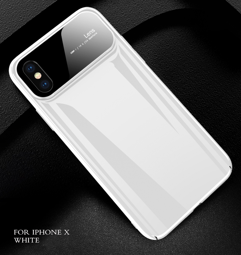 Hee41e486df2f4962ad7631234b6782b2L Plastic shell for iphone X XR XS MAX glass case iPhone 7 8 PLUS 11 Pro MAX ultra-thin anti-fall cover 360° surrounding shell
