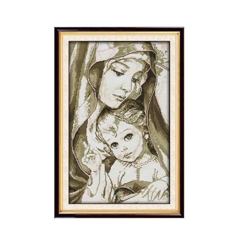 Vergine Maria (2) punto croce kit 18ct 14ct 11ct conteggio stampato tela di cucitura del ricamo FAI DA TE cucito a mano