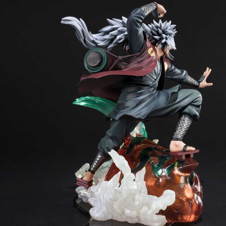 Tronzo Asli Bandai F. Nol Naruto Shippuden Kizuna Hubungan Gama Sennin Jiraiya PVC Action Figure Collectible Model Mainan Hadiah