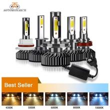 AOTOMONARCH H4 светодиодный H7 Автомобильные фары лампы H3 H8 H9 H11 881 9005 светодиодный H1 9006 Автомобильные фары для авто Универсальный 12V AE