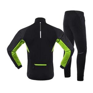 Image 2 - Мужская зимняя теплая велосипедная куртка ARSUXEO, комплект, ветрозащитная Водонепроницаемая теплая велосипедная куртка, брюки для горных велосипедов, велосипедный костюм, одежда для велоспорта 20A