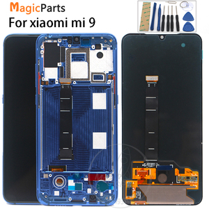 Image 1 - ل شاومي mi 9 mi 9 شاشة الكريستال السائل 6.39 AMOLED الأصلي LCD ل شاومي 9 شاشة الكريستال السائل مجموعة المحولات الرقمية لشاشة تعمل بلمس + أدوات