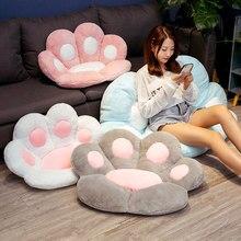 Kawaii animal pata travesseiro bonito recheado gato pata mão mais quente almofada do sofá de pelúcia piso interior casa cadeira decoração crianças presente