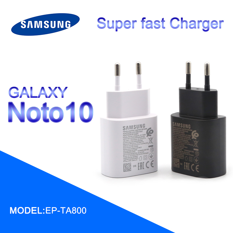 Original samsung note 10 super fast charger charger EU 25W power adapter for galaxy note 7 8 9 10 plus s8 s9 s10