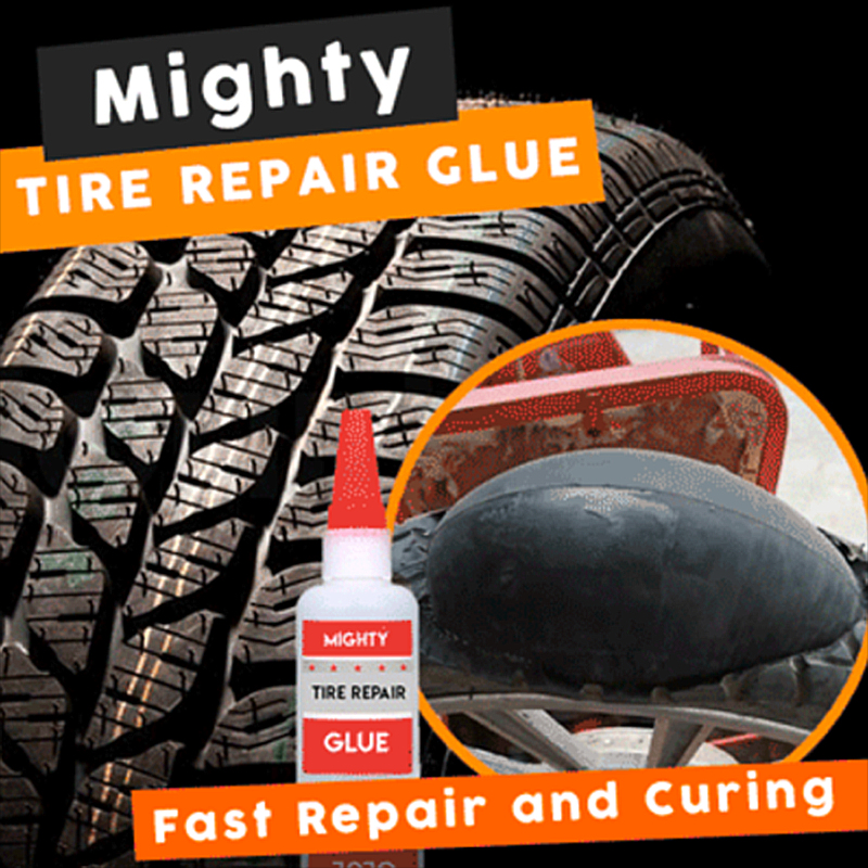 Mighty Tire Repair Glue Tyre Puncture Sealant Glue Car Tire Patch Repair Car Motorcycle Universal Tire Sealant Repair Fluid