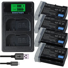 Новинка EN-EL15 EL15 EN-EL15a ENEL15a EN EL15a аккумулятор + USB двойное зарядное устройство для Nikon D850 D810 D810A D750 D500 D7500 D7200 D7100