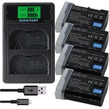 Nouveau EN-EL15 EL15 EN-EL15a ENEL15a EN EL15a Batterie + Chargeur Double USB pour Nikon D850 D810 D810A D750 D500 D7500 D7200 D7100