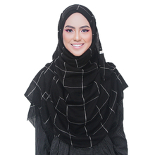 Classic Plaids Tartan Cotton Voile Muslim Hijab Scarf for Ladies Long Cross Stri
