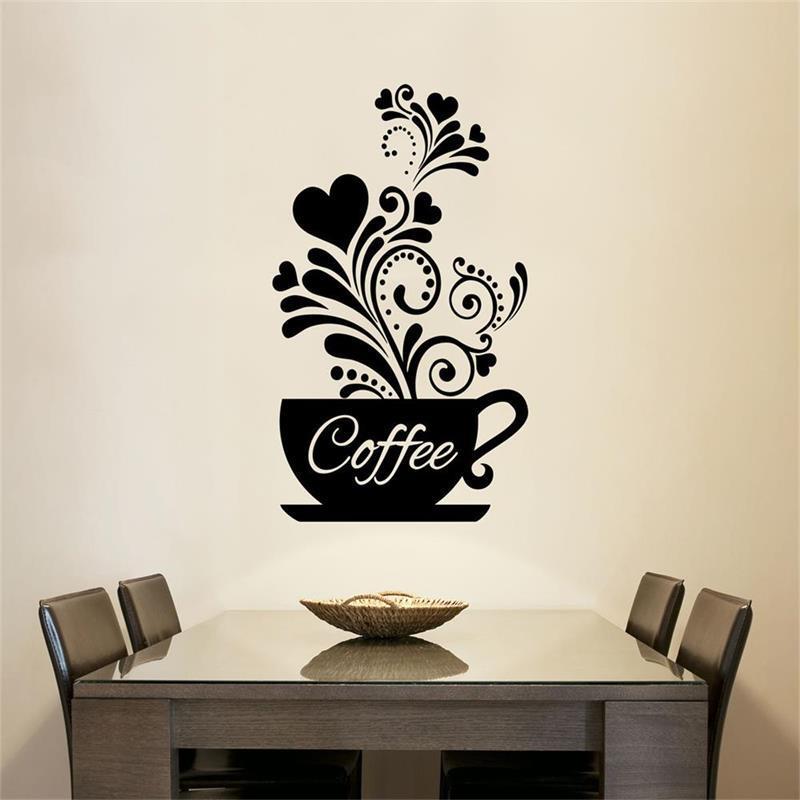Cartoon Happy Pan Wall Sticker for Kitchen Fridge Cupboard Mural Wallpaper #J