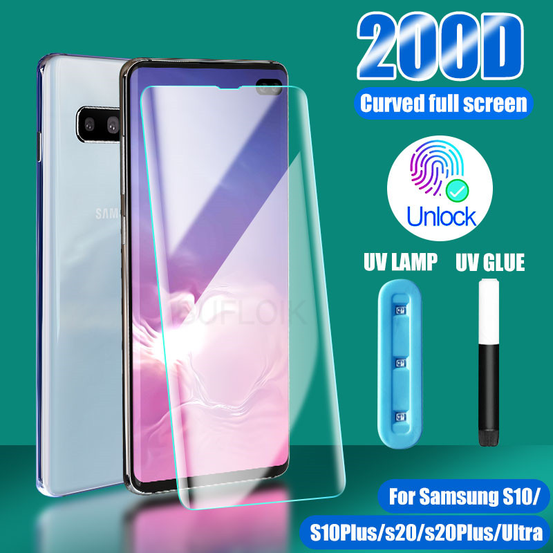 Protector de pantalla de vidrio templado para Samsung Galaxy, Protector de pantalla de vidrio templado para Samsung Galaxy S10 S8 S9 S20 Plus, Note 9 10 8