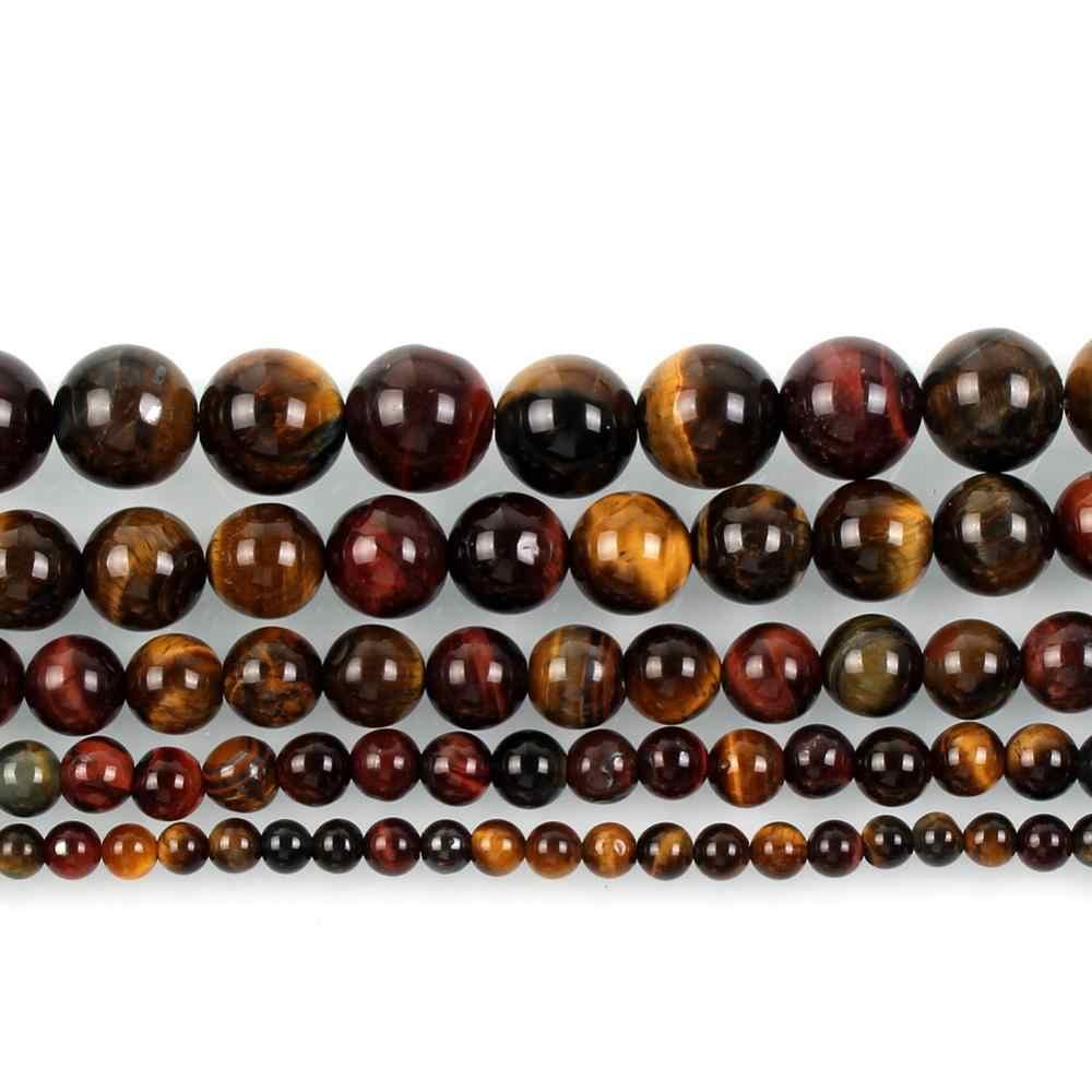 Großhandel Naturstein Perlen Runde Voller Strang Heilung Achate Perlen für Schmuck Machen DIY Armband Halskette 4-12mm