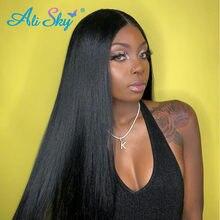 Capelli Alisky capelli lisci indiani 100% capelli umani tessitura estensione dei capelli Remy 8-30 pollici 1/3/4 PCS trama non trattata colore naturale