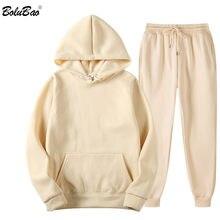 BOLUBAO Marke Männer Einfarbig Casual Sets Herbst Neue männer Hoodies + Hosen Zwei-Stück Trainingsanzug Trendy Sportswear set Männlichen