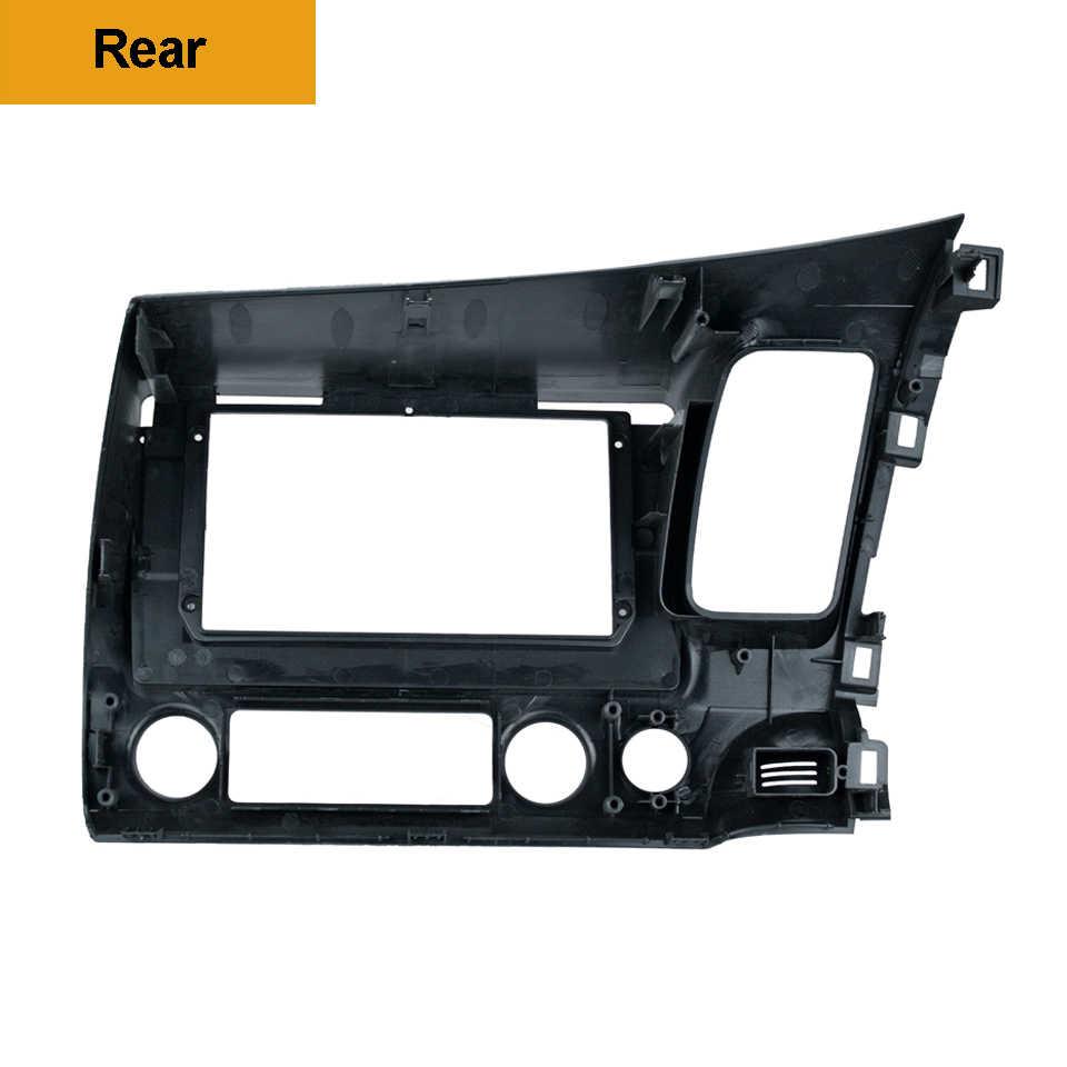 2Din samochodowy odtwarzacz dvd rama Audio adapter montażowy Dash Trim zestawy Panel Facia 10.1 cal dla Honda Civic Left2007-11 radio 2Din odtwarzacz