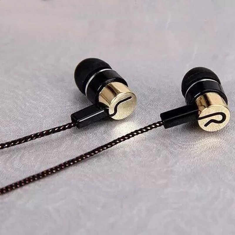 Earphone Olahraga Menjalankan Kebisingan Isolating Stereo 1.1M In-Ear 3.5 Mm Pemutar Musik Earphone Stereo Musik Headphone